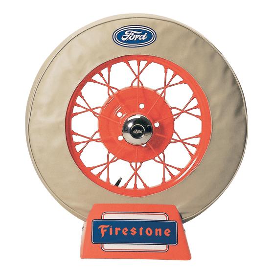 Spare Tire Cover | 21 Inch | Ford Logo (Tan)