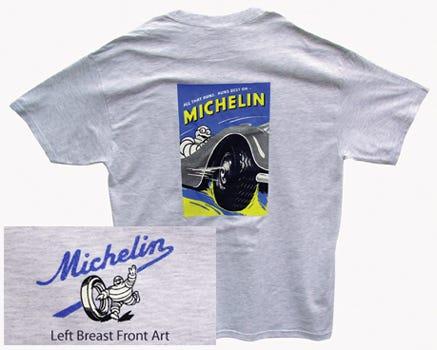 All That Runs Michelin T-shirt   Ash   Small