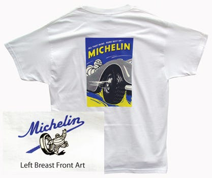 All That Runs Michelin T-shirt | White | Medium