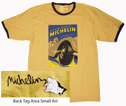 All That Runs Michelin T-shirt | Gold | Small