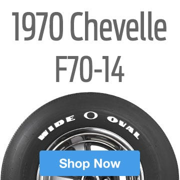 1970 Chevrolet Chevelle SS Tire Size F70-14