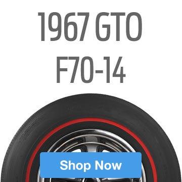 1967 Pontiac GTO Tire Size F70-14