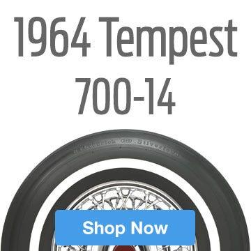 1964 Pontiac Tempest Tire Size 700-14