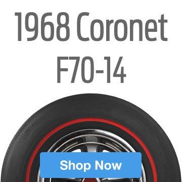 1968 Dodge Coronet Tire Size F70-14