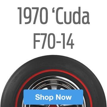1970 Plymouth 'Cuda Tire Size F70-14