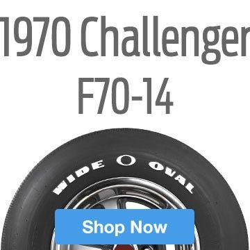 1970 Dodge Challenger Tire Size F70-14