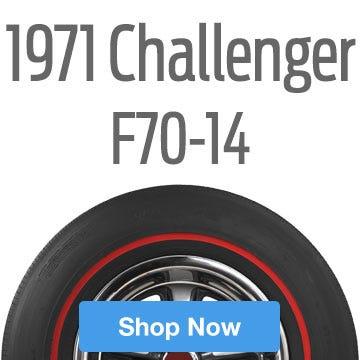 1971 Dodge Challenger Tire Size F70-14