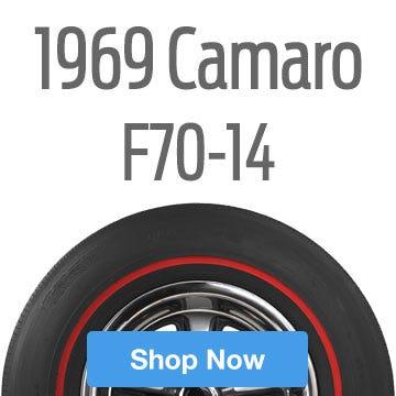 1969 Chevrolet Camaro SS Tire Size F70-14