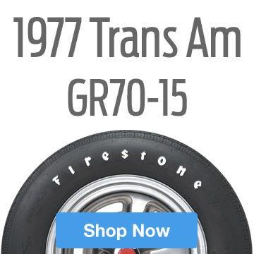 1977 Pontiac Trans Am Tire Size F70-14