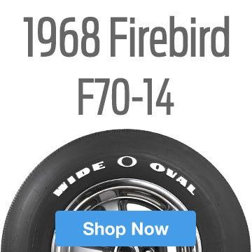 1968 Pontiac Firebird Tire Size F70-14