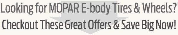 MOPAR E-Body Tire & Wheel Guide from Coker Tire Company