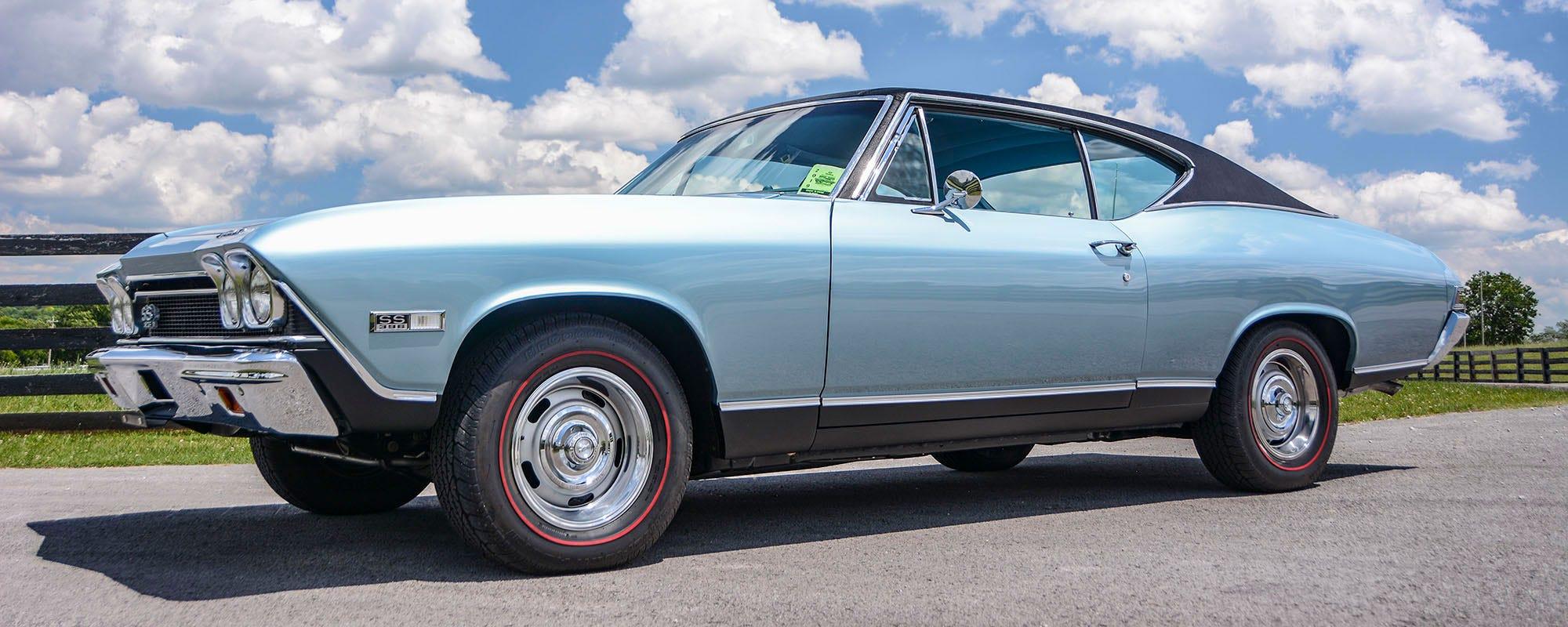 1968 Chevrolet Chevelle SS 396 with Redline BF Goodrich Silvertown Radial tires