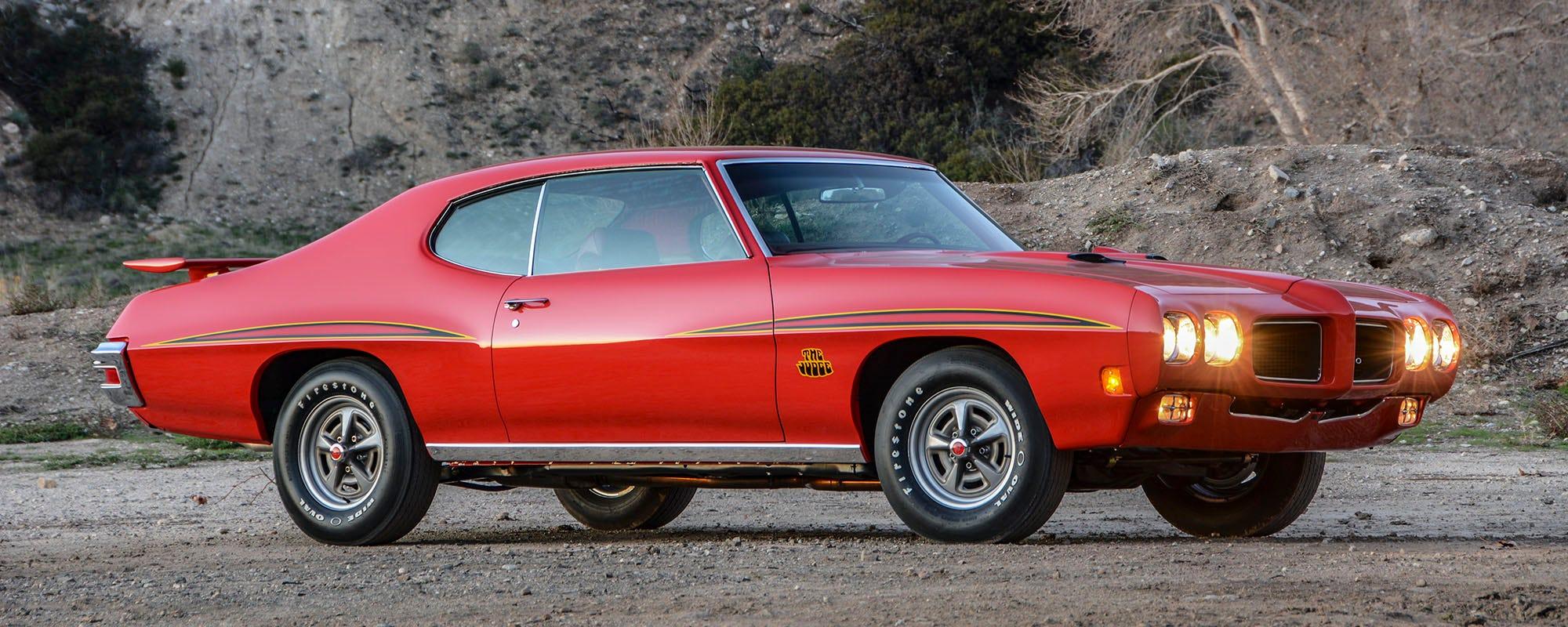 1970 Pontiac GTO Judge with Firestone Wide Oval Radial tires