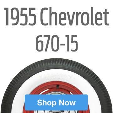 1955 Chevrolet Bel Air Tire Size 670-15