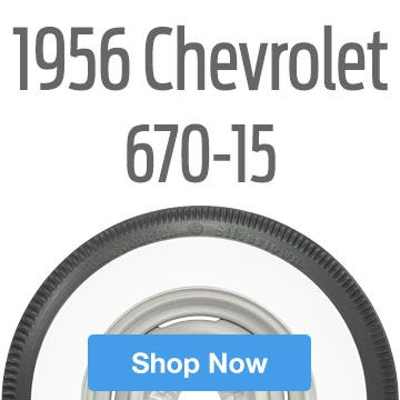 1956 Chevrolet Bel Air Tire Size 670-15