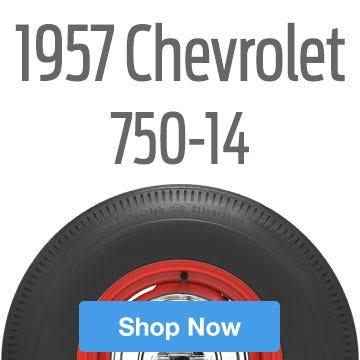 1957 Chevrolet Bel Air Tire Size 750-14