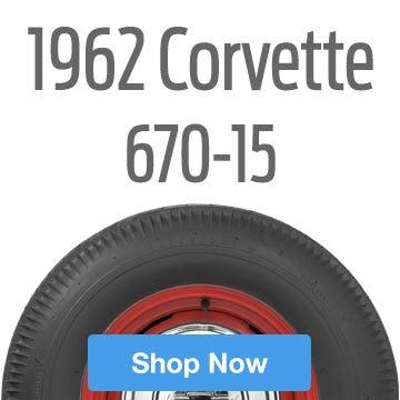 1962 Chevrolet Corvette Tire Size 670-15