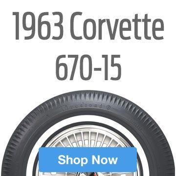 1963 Chevrolet Corvette Tire Size 670-15