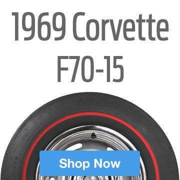 1969 Chevrolet Corvette Tire Size F70-15