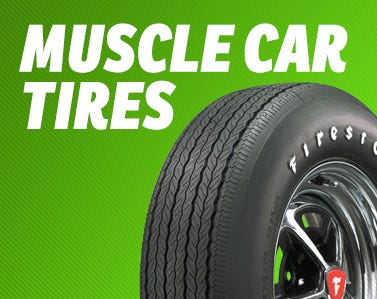 Huge Selection of Authentic Tires for Muscle Cars