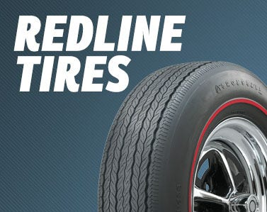 Huge Selection of Genuine Redline Tires for Muscle Cars