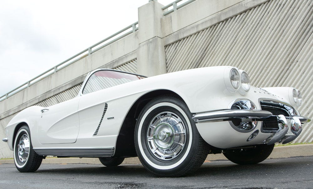 Classic 1962 Corvette with American Classic Whitewall Radial Tires from Coker Tire Company