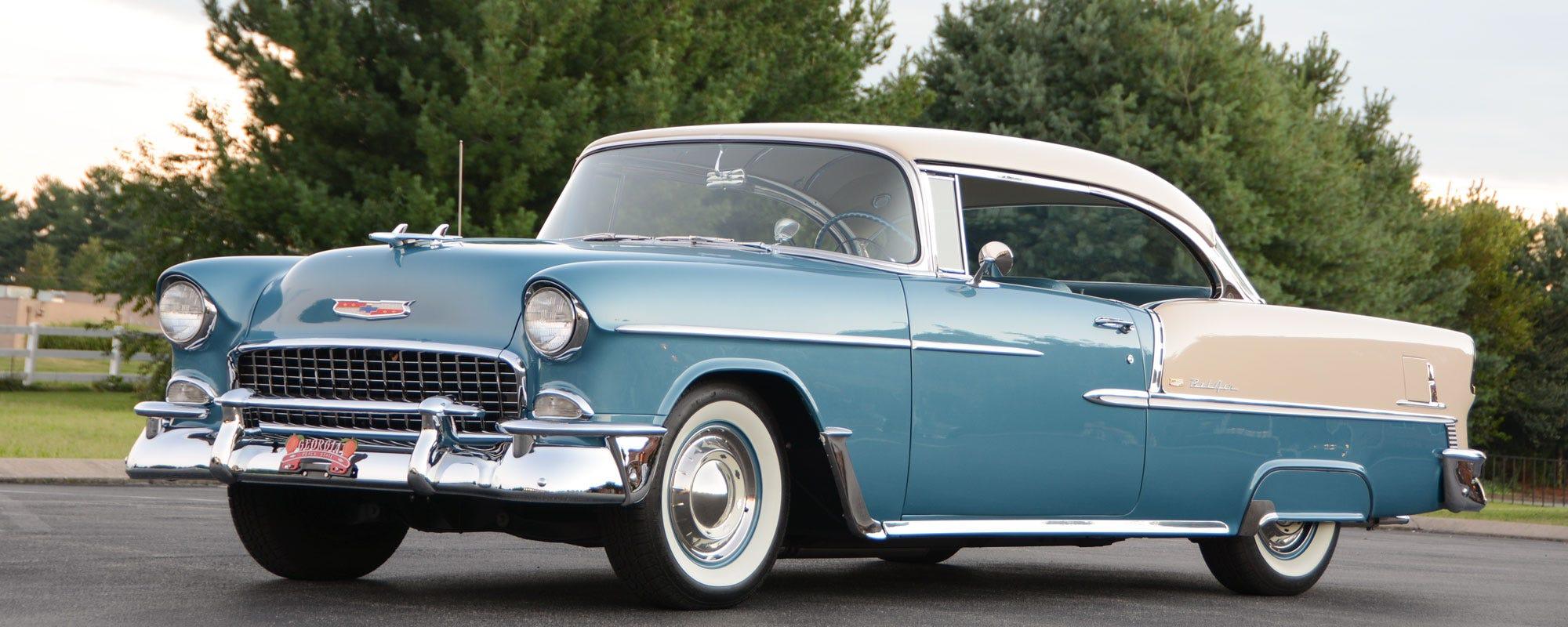 1955 Chevrolet Bel Air 2 Door Hard top with Whitewall Tires