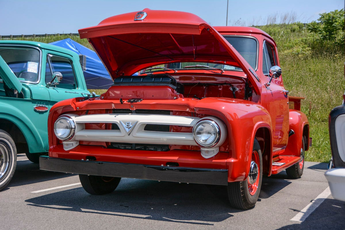 Ford Trucks Invade Pigeon Forge, TN for the Grand National F-100 Reunion