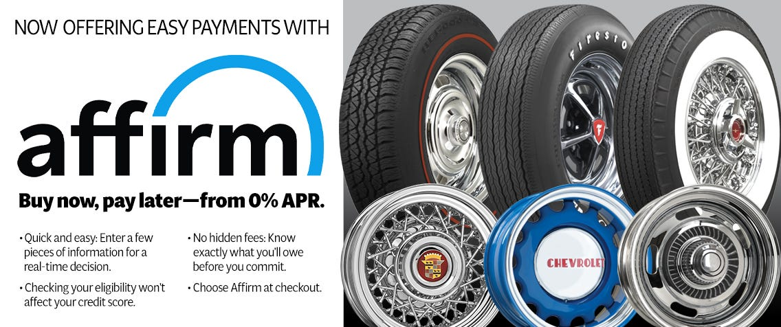 Coker Tire Now Offers Easy Payments with Affirm