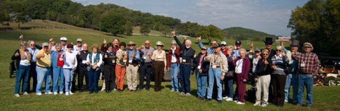 "Several ""Pardon Me Boys... Reliability Tour"" Drivers at Mountain Valley Farm"