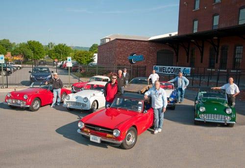 Triumph Club visits Coker Tire Company