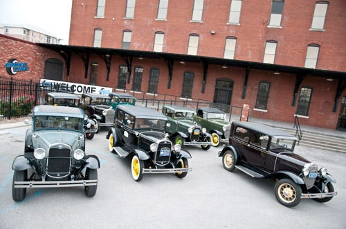 Smoky Mountain Model A Club visits Coker Tire Company