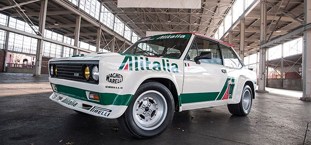 Michelin TB5 Tires on Fiat 131 Abarth Tribute Car