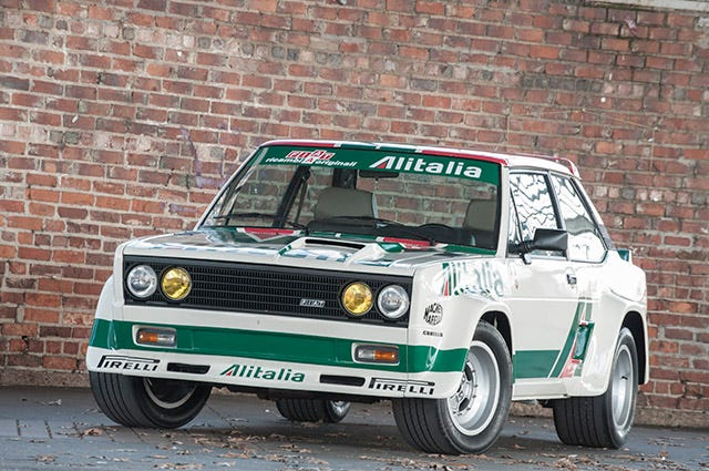 Fiat 131 Abarth Rally Car with Michelin TB5 tires