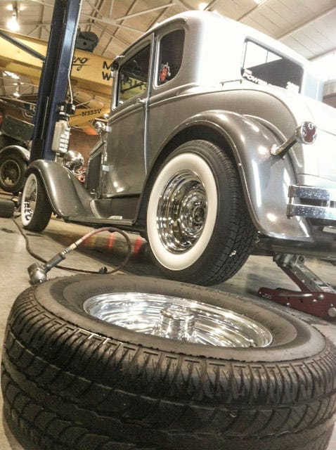 Hot Rod Tire and Wheel Swap