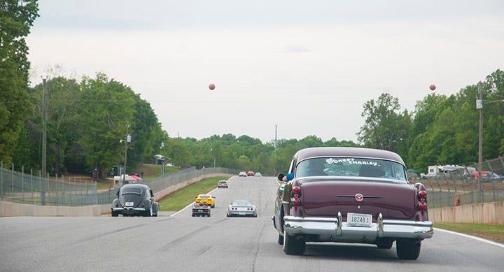 Corky Coker's 1954 Buick on Road Atlanta race course