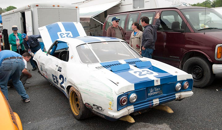 Wrecked Corvair Race Car