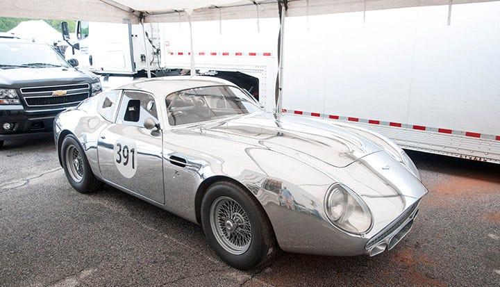 Aston Martin in brilliant polished aluminum