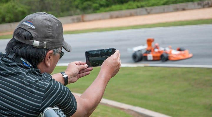Wade Kawasaki soaking up the vintage racing at Road Atlanta