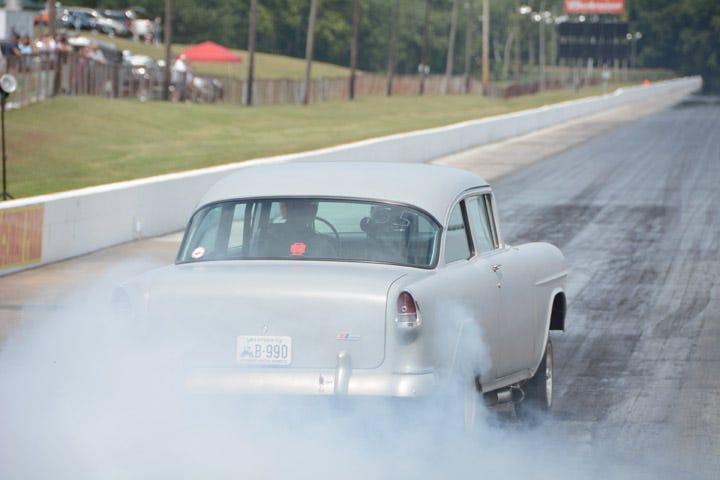 1955 Chevy gasser burnout