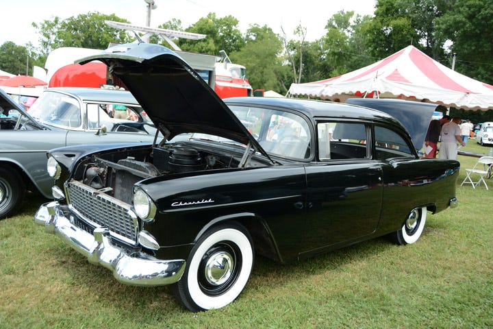 1955 Chevrolet 150 with whitewall tires.