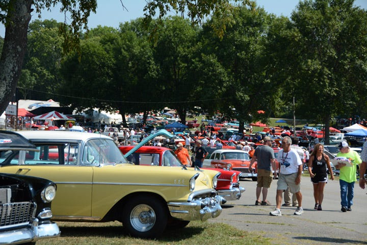 With 1,858 Tri-Fives registered for the event, and tens of thousands of spectators, the first year of the Tri-Five Nationals was a huge success. We loved the diversity of cars, considering the three-year run. There were no two cars alike!