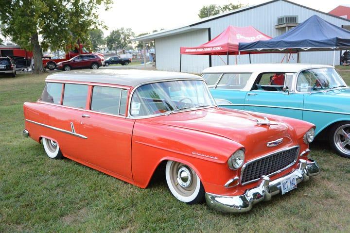 Slammed 1955 Chevy station wagon