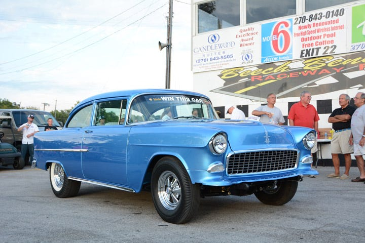 1955 Chevy Tri Five Nationals give away car.