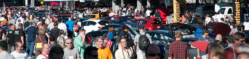 SEMA Show parking lot vehicles
