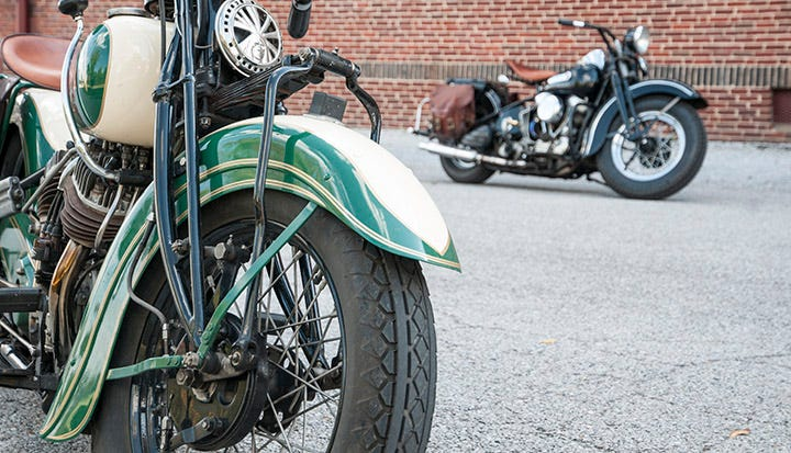 Two Dudes from Ohio Visit Coker on Vintage Motorcycles