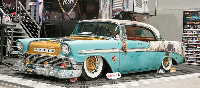 SEMA 2015 Feature--Boosted Bela, A Slammed '56 Chevy