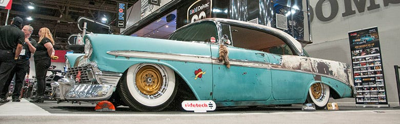 Boosted Bela 1956 Chevy SEMA