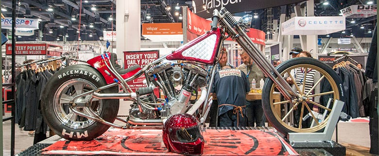 SEMA 2015 Feature--Red Kap Rocket Motorcycle Build