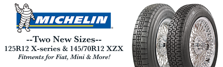 Michelin 125R12 145/70R12 Tires